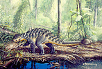 Life restoration of the ankylosaurid Euoplocephalus