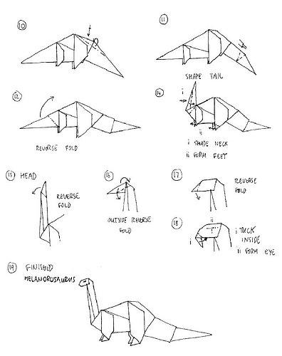 Origami Dinosaur Stock Illustrations – 189 Origami Dinosaur Stock ... | 500x396